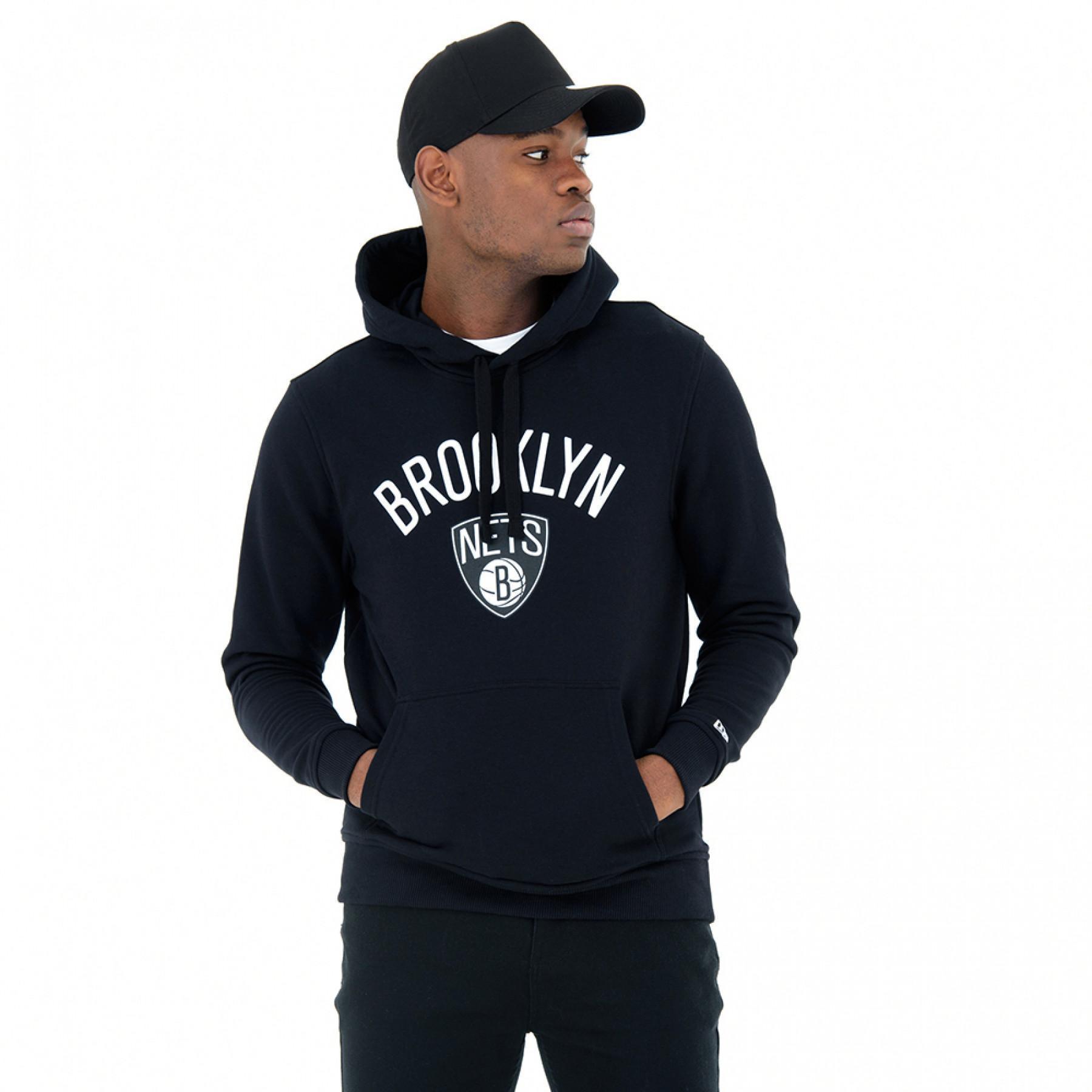 Sweat à capuche New Era Brooklyn Nets