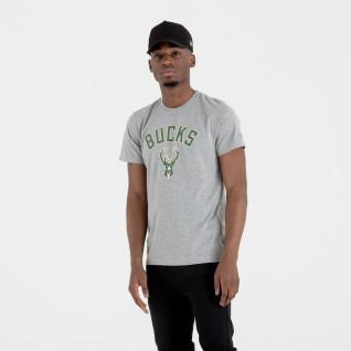 T-shirt New Era logo Milwaukee Bucks