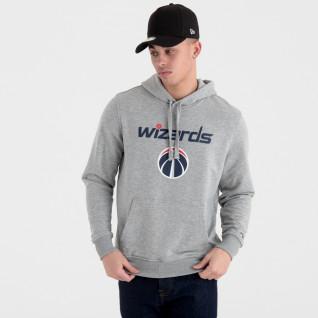 Sweat à capuche New Era avec logo de l'équipe Washington Wizards