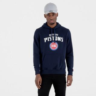 Sweat à capuche New Era avec logo de l'équipe Detroit Pistons