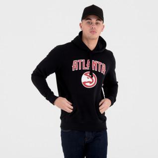 Sweat à capuche New Era avec logo de l'équipe Atlanta Hawks
