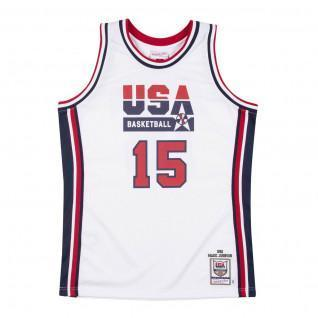 Maillot domicile authentique Team USA Magic Johnson 1992