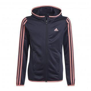 Sweatshirt zippé à capuche enfant adidas Designed To Move 3-Bandes