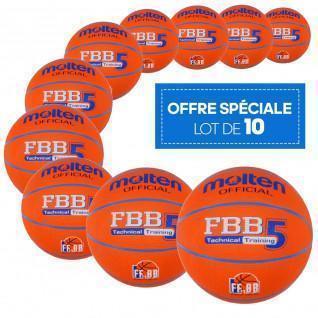Lot de 10 ballons Loisir Molten FBB Technical Training
