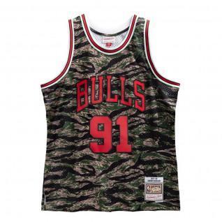 Maillot Dennis Rodman Chicago Bulls 1997-98 Tiger Camo